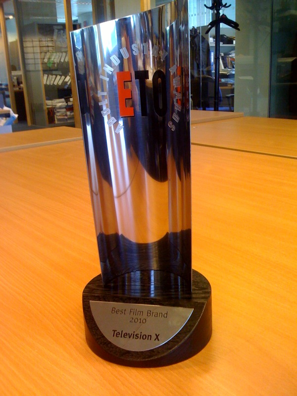 Our ETO award for Best Film Brand